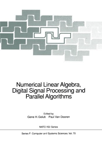 Numerical Linear Algebra, Digital Signal Processing And Parallel Algorithms (Nato ASI Subseries F:)