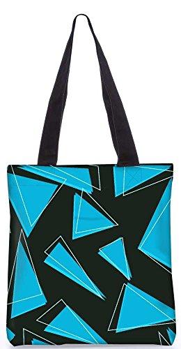 """Snoogg Blaue Stücke Des Dreiecks Einkaufstasche 13,5 X 15 In """"Einkaufstasche Dienstprogramm Trage Aus Polyester Leinwand"""
