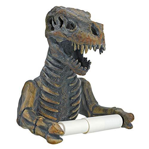- Design Toscano JQ9551 T. Rex Dinosaur Skeleton Bathroom Toilet Paper Holder, Multicolor