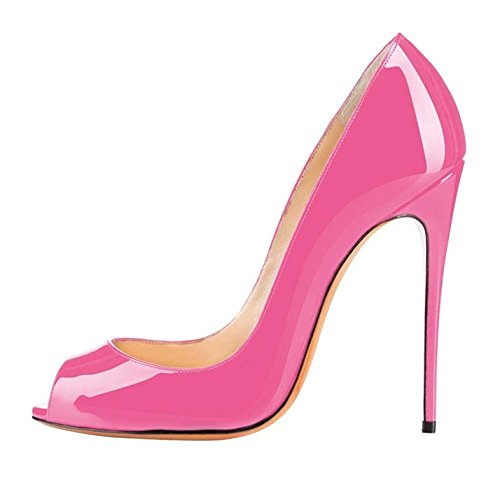 Heel Womens Pumps Court Shoes Toe Rose Soireelady Party High Peep Dress xfgqRRYw