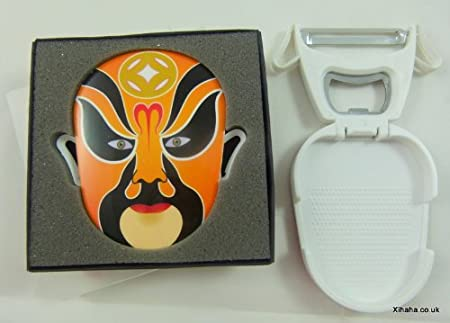 Naranja ópera china máscara Multifunción Pelador del abrelatas de ...