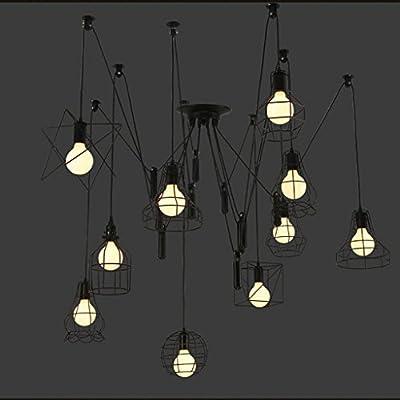 Rustica lampara techo lamparas retro vintage Pendientes de la ...