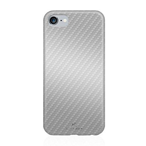 Rock Flex Noir Carbone pour Apple iPhone 7–Argent