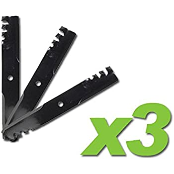 """6-Pack Hi-Lift Heavy Duty Blades Replaces Bad Boy 038-7202-00 for 72/"""" deck"""