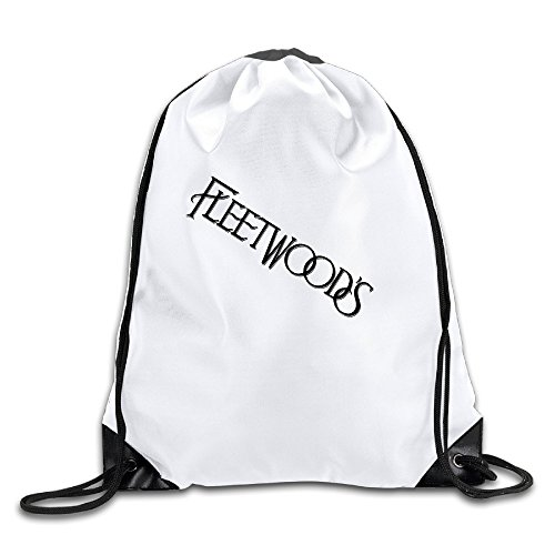 BYDHX Fleetwoods Logo Drawstring Backpack Bag White