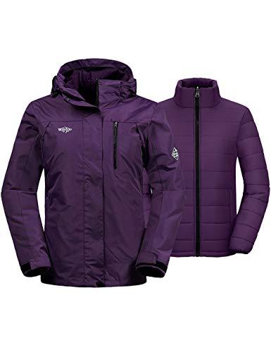 Wantdo Women's 3-in-1 Ski Jacket Waterproof Snow Coat