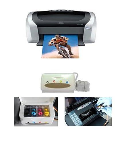Epson C88 Digital Photo Inkjet Printer with CISS Heat Press