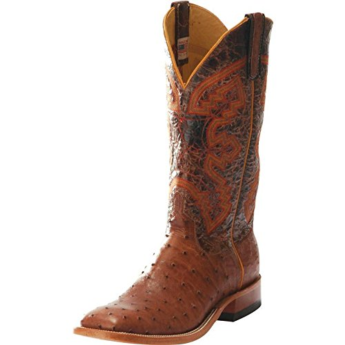 Anderson Bean Mens Rum Mad Dog Full Quill Cowboy Boots 11.5 D(M) US Brown/Orange