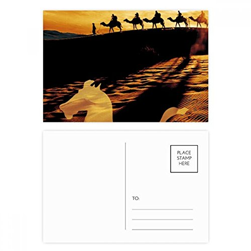 Desert Along the Way to the Silk Road Map Camel Postcard Set Birthday Thanks Card Mailing Side (Camel Postcard)