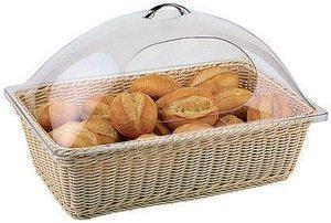 World Cuisine 42967-53 Rectangular Polyrattan Buffet Basket, Beige