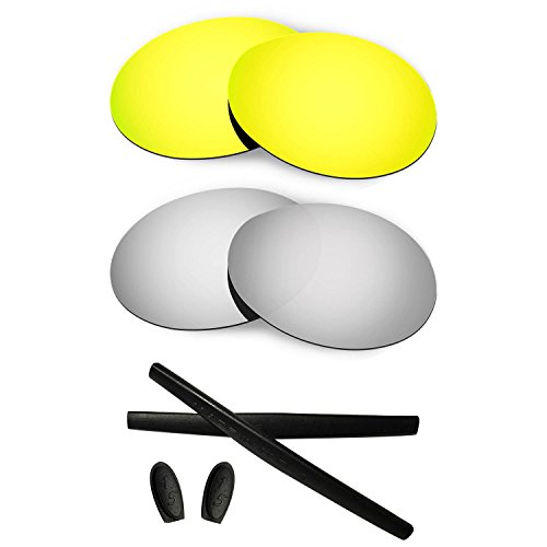180d2921f4 HKUCO For Oakley Romeo 1 Mens Replacement Lenses And Earsocks Rubber Kit -  Buy Online in Oman.