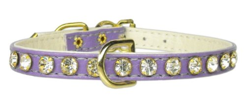 Mirage Pet Products No.16 Dog Collar, 12-Inch, Purple