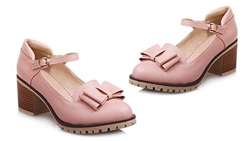Chaussures à bout rond roses Chic femme R1sEg5Un