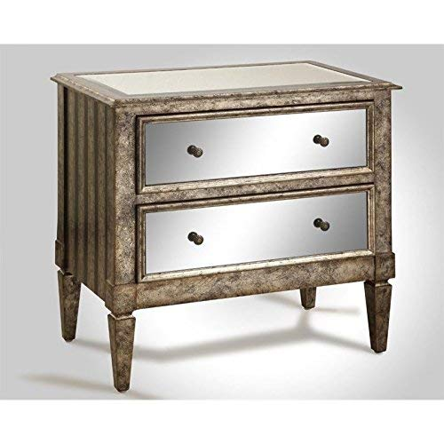 Amazon Com Powell 709 331 2 Drawer Mirrored Console