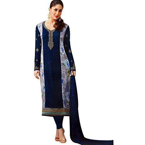 Kameez Indian Suit - Designer Wedding Bollywood Georgette Embroidered Salwar Kameez Suit