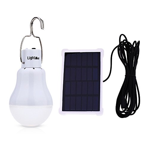 LightMe Solar Light Bulb Portable 140LM Solar Powered Led Bulb Lights Outdoor Solar Energy Lamp Lighting for Home Fishing Camping Emergency Tent Shed Chicken - Solar Remote Panel