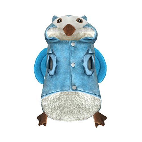 Dog Owl Costume - Halloween Dog Pet Costume, Owl Cool Funny Cute Dog Pet Cosplay Thick Hoodie Costume Soft Warm Sweater