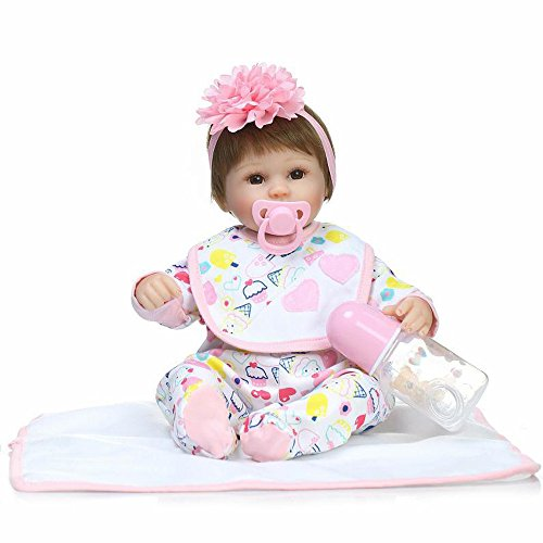 PSFS Lifelike Reborn Doll Sleeping Soft Silicone Full Body Realistic Boy Girl Doll Vinyl Reallike Newborn Baby Doll with Clothes 42cm, Kids Gift for Ages 3+(Multicolor) (Multicolor)