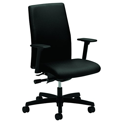 HON Ignition Series Mid-Back Work Chair - Upholstered Computer Chair for Office Desk, Black (HIWM3) by HON
