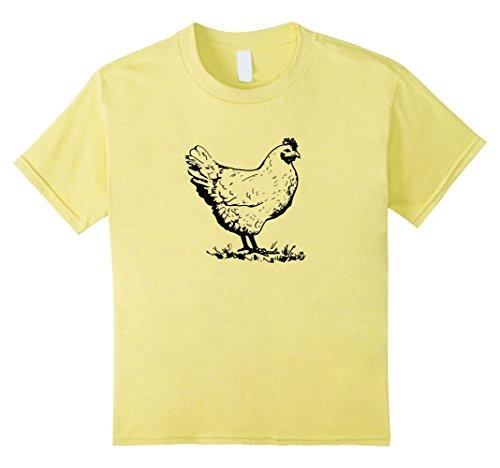 Chicken T-shirt vintage style pet chicken farmer tshirt tee - Kids 6 - ()