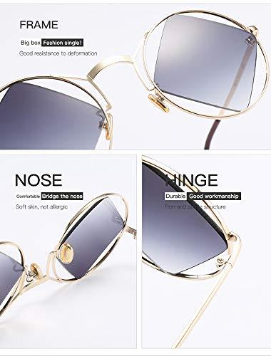 Huateng À Soleil De C6 Monture Women Sunglasses Men Lunettes Carrée Ht Rondes r8Sqxr