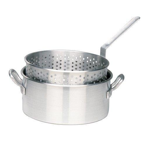 Bayou Classic 1201 10-Qt. Aluminum Fry Pot with Basket - No Lid NewGY#583-4 6-DFG248221 (Bayou Classic With Lid Steamer)