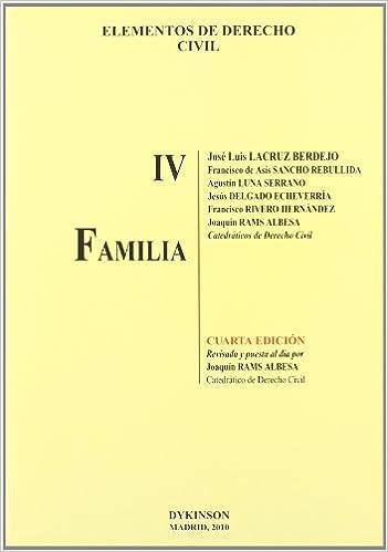 Elementos de Derecho Civil. Tomo IV. Familia: 4: Amazon.es: Lacruz ...