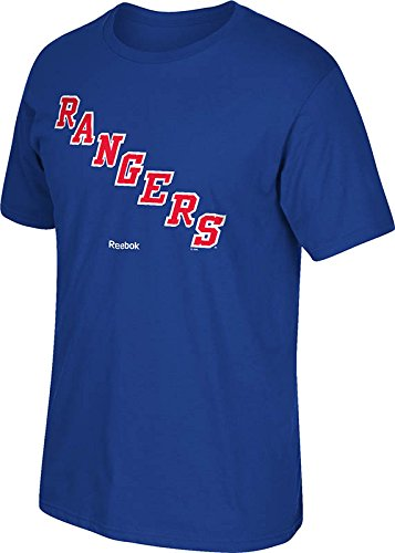 Nhl New York Rangers  Jersey Crest  Tee  Medium  Blue