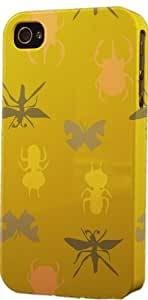 Insect Yellow Pattern Dimensional Case Fits Apple iPhone 4 or iPhone 4s