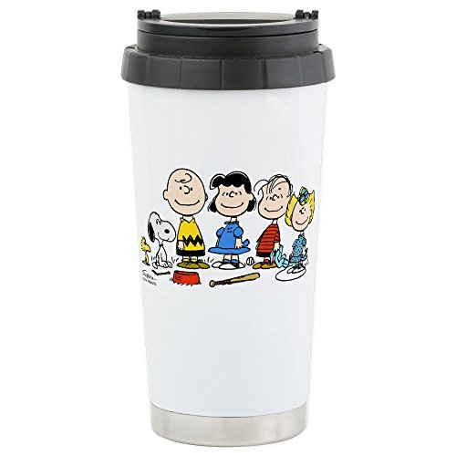 CafePress - The Peanuts Gang Stainless Steel Travel Mug - Stainless Steel Travel Mug, Insulated 16 oz. Coffee Tumbler