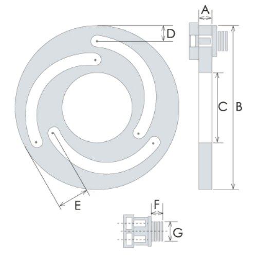 TAIKI 3900-4654 8'' Jaw Boring Ring