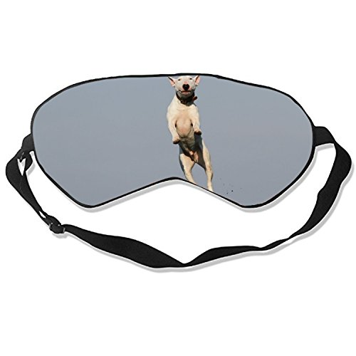 Bull Terrier Sleep Eye Mask for Sleeping Contoured Eyemask Silk Best Night Blinder Eyeshade for Men Women Kids by Elvira Jasper