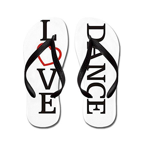 Cafepress Big Love Dance - Flip Flops, Roliga Rem Sandaler, Strand Sandaler Svart