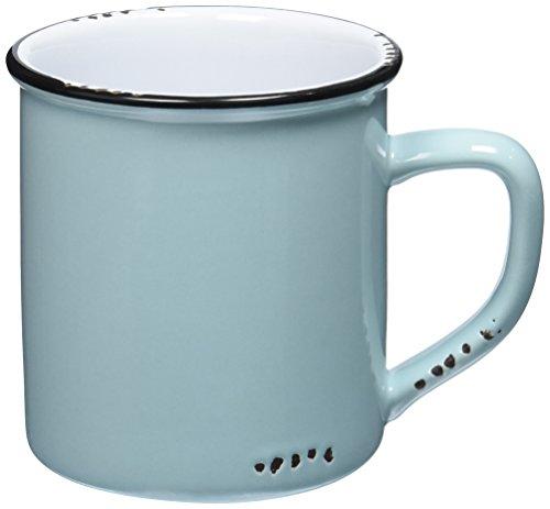 Abbott Collection Enamel Look Stoneware Mug, Green