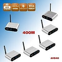 Measy AV540-5 (1X5) 5.8GHz 8 Channels CCTV Camera DVR Wireless Transmitter Receiver AV Sender 400m/1320feet IR Remote Control