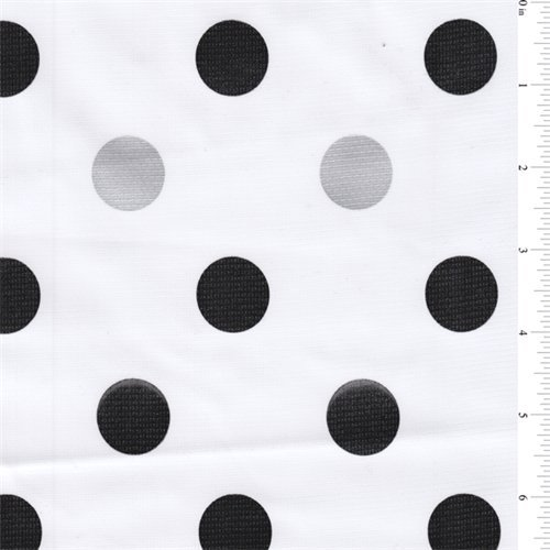 [Black Dot Oilcloth, Fabric Sold By the Yard] (Polka Dot Oilcloth)