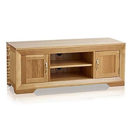 Oak Furniture Land Wate Massiv Eiche Natur Grosse Tv Schrank Amazon
