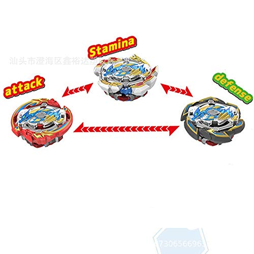 ZellyPower Gyro Toy Battling Tops 3 in 1 Beyblade Burst Explosive Gyroscope Combination Toy with Launcher Gift for Boy Kid 3 Years Old +