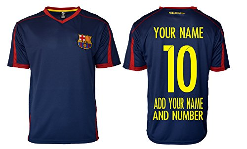FC Barcelona Soccer Jersey Training Performance Any Name Customized (M, NAVY T1E28)