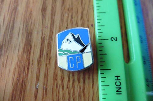 CP Canadian Pacific Rail Mountain Lapel Pin Blue enamel vintage ski skiing club