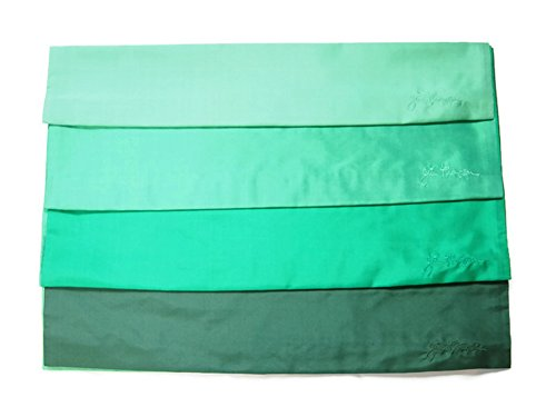 Jim Thompson - Set of 4 Thai Silk Sofa Cushion Pillow Cover / Case for Home Decoration - 4 Shade of Green by SukSomboonShop