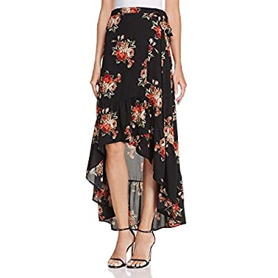 YFB On The Road Womens Asymmetrical Floral Printed Wrap Skirt