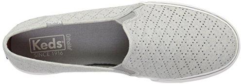 Light Canvas Gray Fashion Keds Women's Perf Double Decker Fw7U1p8
