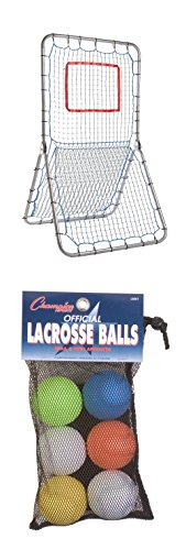 Champion Sports Multi-Sport Net Pitch Back Screen 42 x 72 + 6 Rawlings Baseball Official League