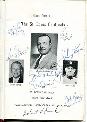 Stan Musial, Sandy Koufax & Others Autographed 1964 Cardinals Baseball Party Program - MLB Autographed Miscellaneous Items