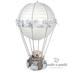 Pasito a Pasito - Lámpara globo vichy gris Básicos gris