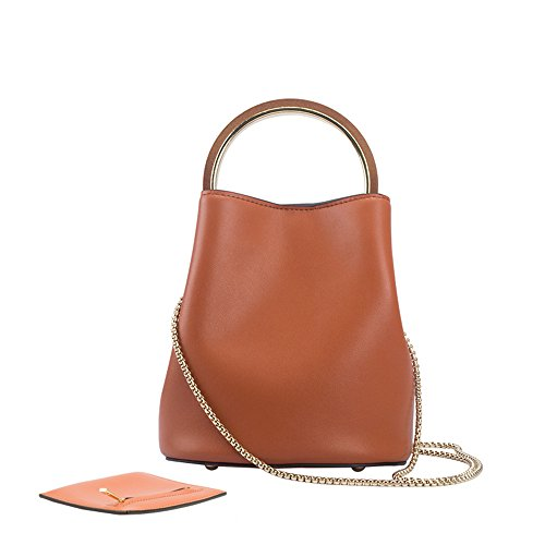 Nero Anello Benna Borsetta Ladies' Gwqgz Rotondo Brown Trendy tYO8w8
