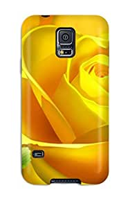 Awesome Case Cover/galaxy S5 Defender Case Cover(yellow Bloom)