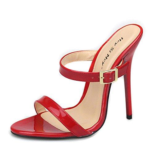 L Verano Rojo PU Altos Las Casual Primavera Red Bajo Negro YC Tacones Confort Confort Mujeres de rnqwr1pzS