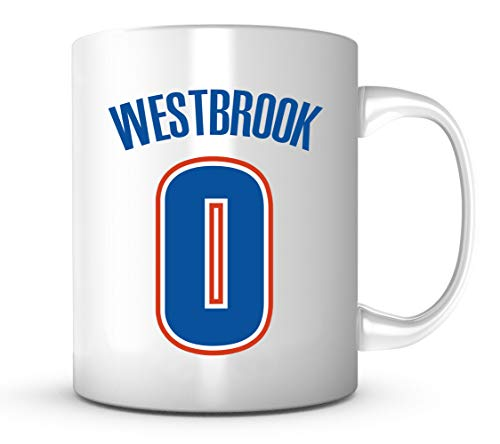 Ceramic Nba Basketball - Russell Westbrook Mug - Jersey Number Basketball Coffee Cup - Shipped from USA